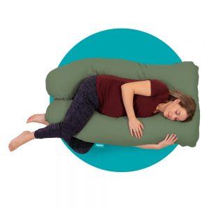 mjuka zwangerschapskussen 140 cm groen