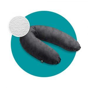 stillkissen mikroperlen velours schwarz